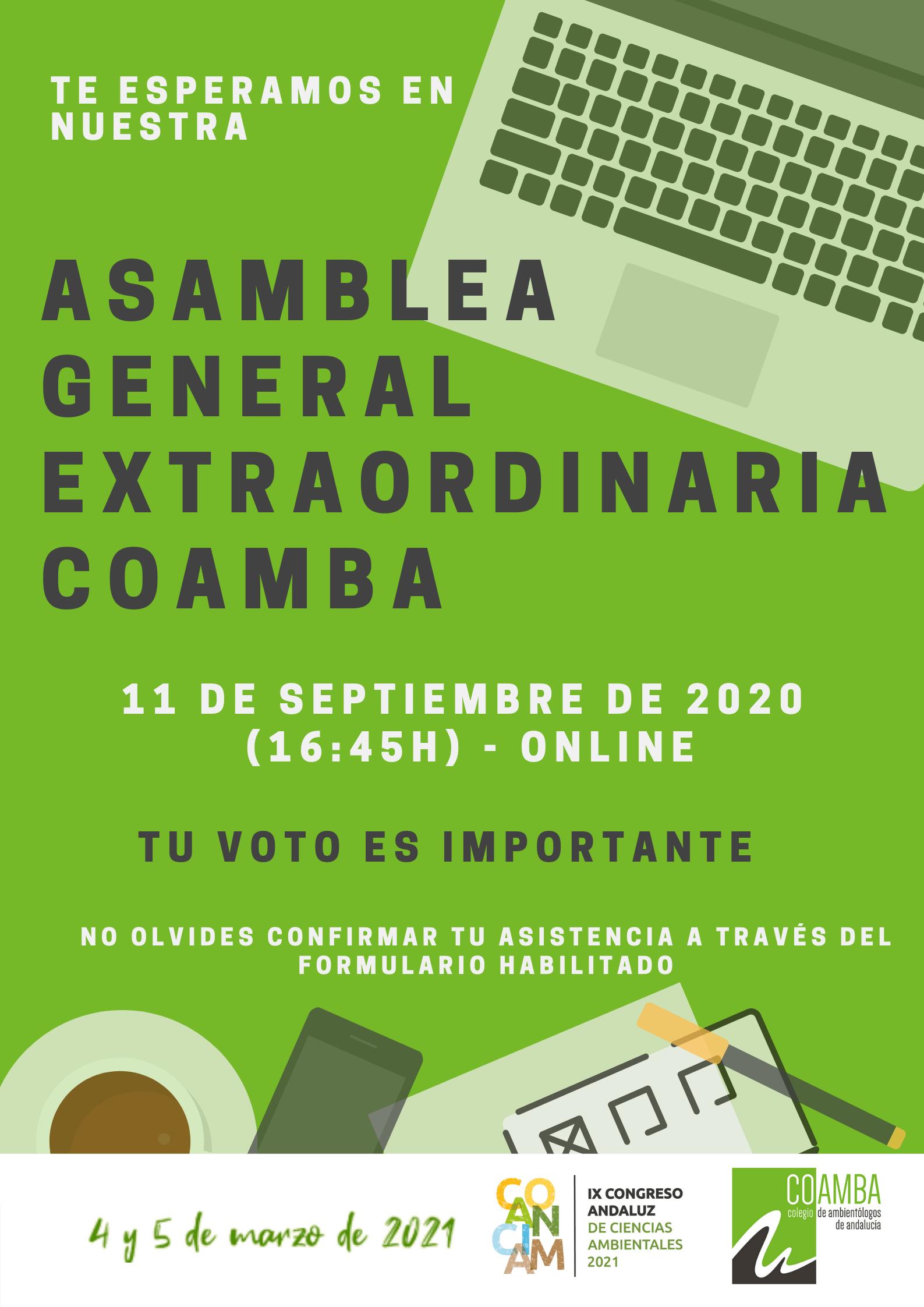 Asamblea Extraordinaria 11 septiembre 2020