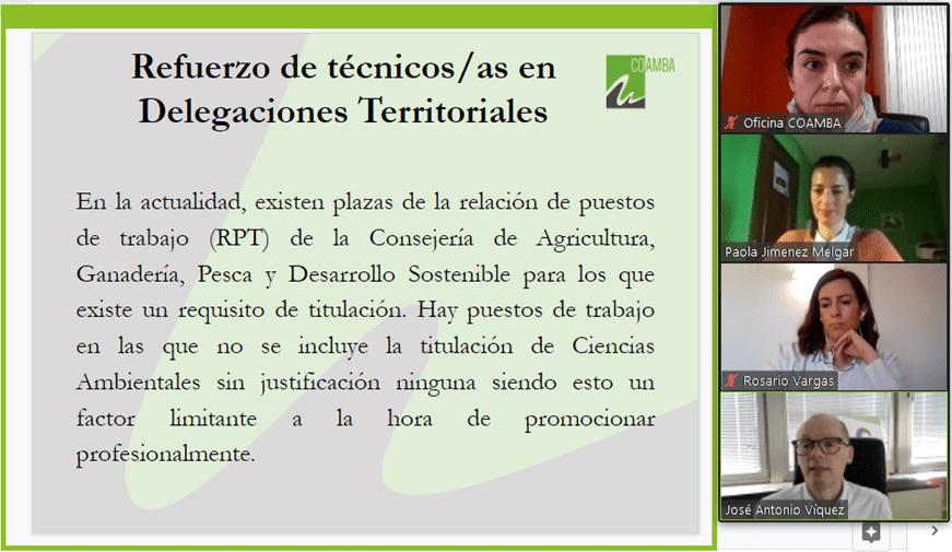 Nota de Prensa - COAMBA se reúne con los Delegados Territoriales de Desarrollo Sostenible de las Delegaciones de Málaga y Sevilla