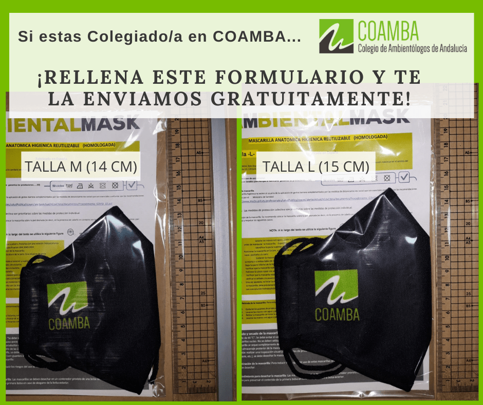 Entrega de Mascarillas a Colegiados/as COAMBA de forma gratuita