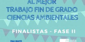 Finalistas de la VII Edición del Premio al Mejor Proyecto Fin de Grado en Ciencias Ambientales de Andalucía