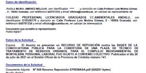 Nuevo Recurso de Reposición presentado por COAMBA frente a EPREMASA