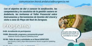TALLER-VISITA sobre INSTRUMENTOS Y HERRAMIENTAS DE GESTIÓN DEL LITORAL en MÁLAGA