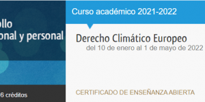 Derecho Climático Europeo - Descuento de un 30% para miembros COAMBA/PROAMBA